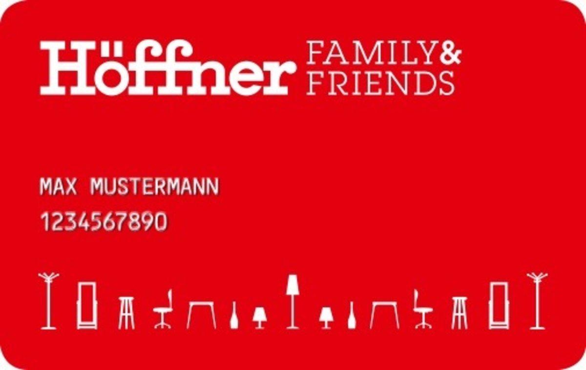 """Neue """"Family & Friends""""-Karte von Möbel Höffner - Nürnberg"""
